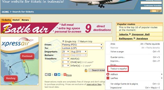 vuelos low cost indonesia