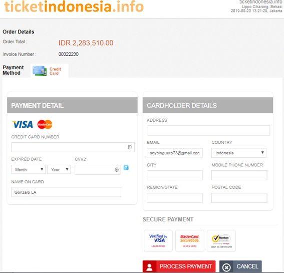 vuelo en indonesia